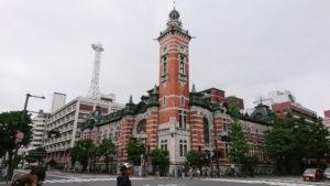 開港記念館 建物の角にある時計台はジャックの塔と呼ばれ高さは36メートル。
